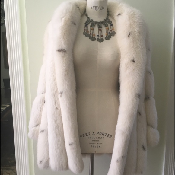 saks custom made Jackets & Blazers - Haute couture fox brand new coat new with dustbag